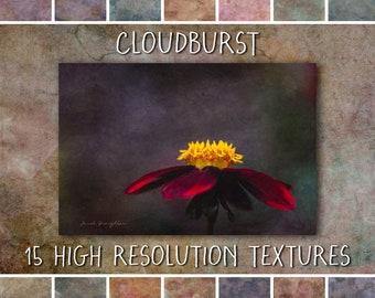 Fine Art Photoshop Textures, Cloudburst Collection - fine art grunge textures for creative photographers