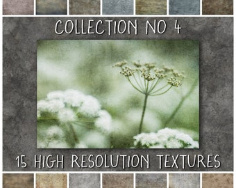 Digital Texture Overlays for Photoshop, Collection No 4