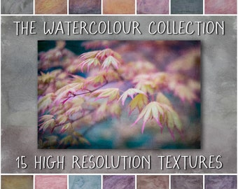 Painterly Fine Art Texture Overlays - The Watercolour Collection
