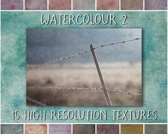 Fine Art Photoshop Textures, Watercolour 2 Collection - painterly overlays for creative photography and digital art