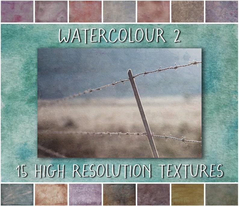 Fine Art Photoshop Textures Watercolour 2 Collection  image 0