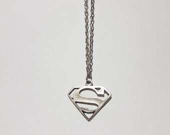 Superman necklace superhero necklace gift idea for superhero lovers