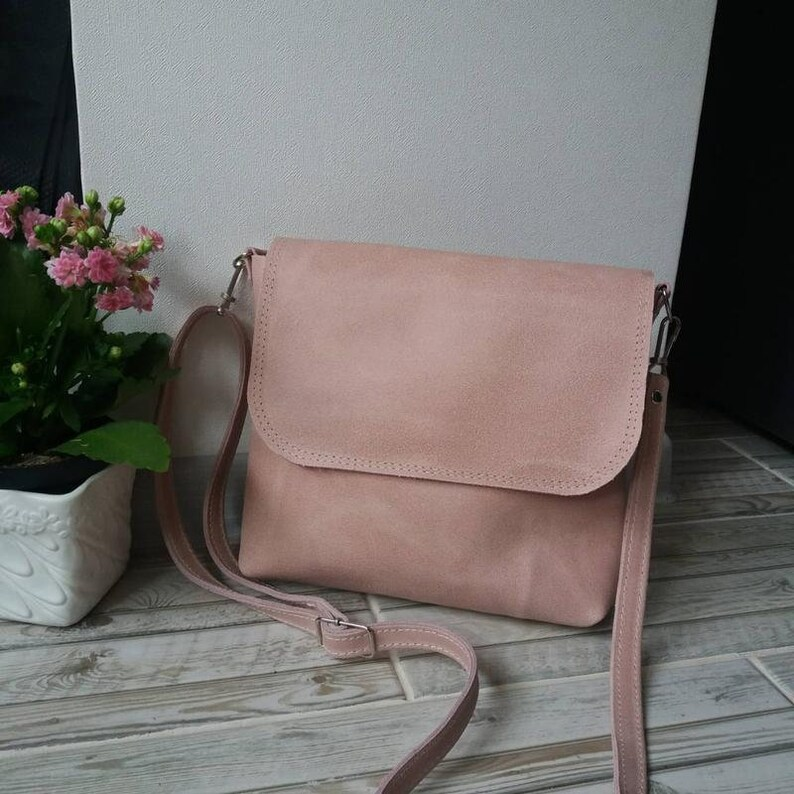 582136fa28a Leather Crossbody Bag Handmade Pink Leather Crossbody Bag Medium Leather  Handbag Women Leather Bag Leather Shoulder Bag Leather Purse Gift