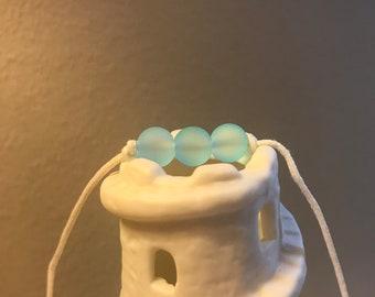 Sky Blue Sea Glass Trio Necklace