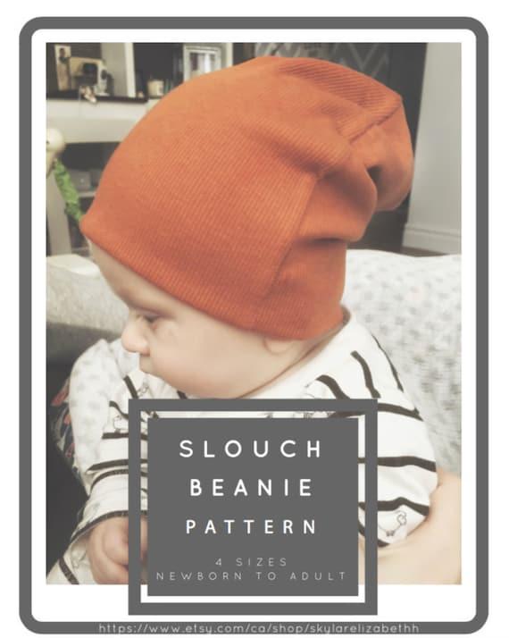 Slouchy Beanie Hat Pattern / PDF Pattern / Sewing Tutorial / | Etsy