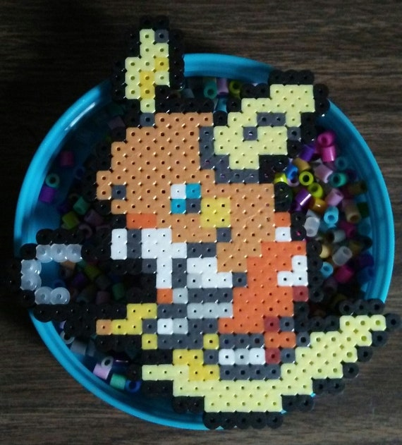 Items Similar To Pokemon Alolan Raichu Perler Bead Pixel Art