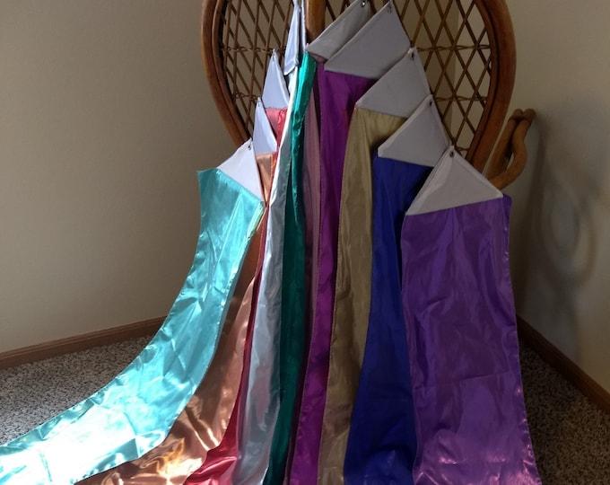 Worship Streamer, Gold, Silver, Red, Blue, Green, Turquoise, Purple, Copper, Pink, Fuchsia, Aqua