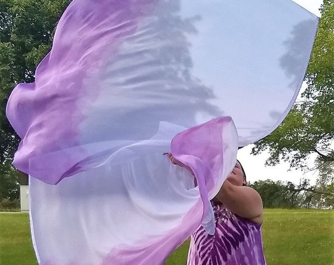 Worship Flags, Dance Flags, Praise Flags, Angel Wings, Swing Flags, Hand Dyed - Royal Faith