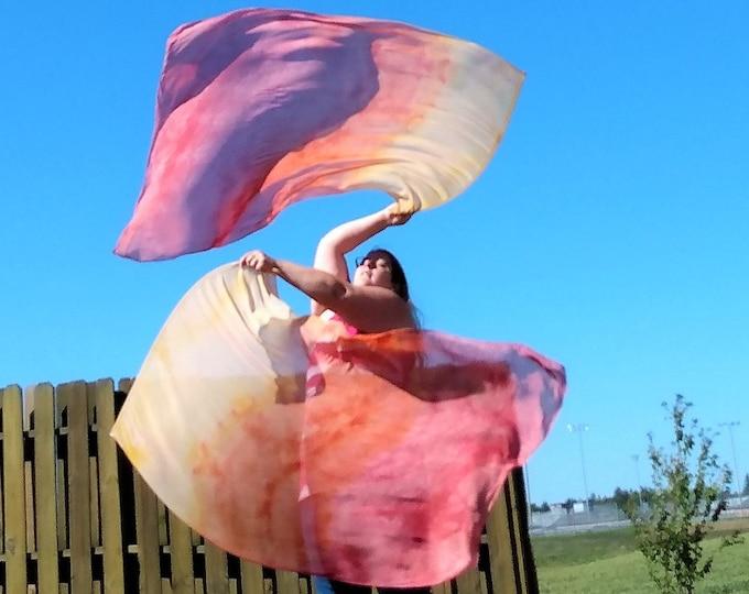 Worship Flags, Dance Flags, Praise Flags, Rectangular Flags, Flex Poles - Radiant Fire