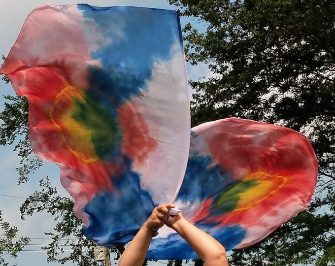 Worship Flags, Dance Flags, Praise Flags, Angel Wings, Swing Flags, Hand Dyed - Beautiful Mess