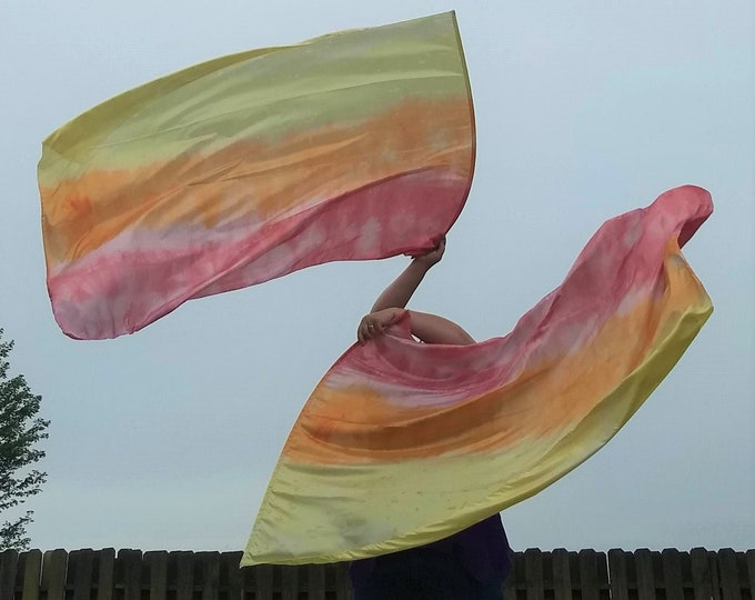 Worship Flags, Dance Flags, Praise Flags,Hand Dyed - Through the Fire