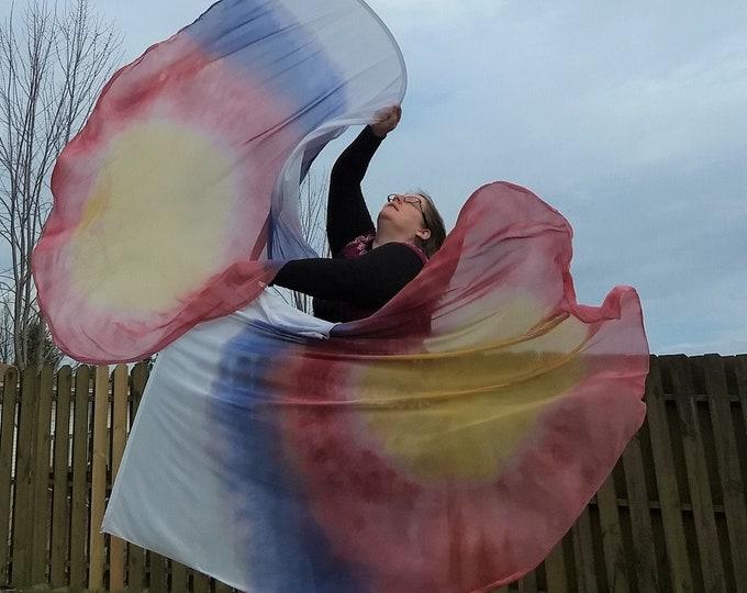 Worship Flags, Dance Flags, Praise Flags, Angel Wings, Swing Flags, Hand Dyed - God of Wonders