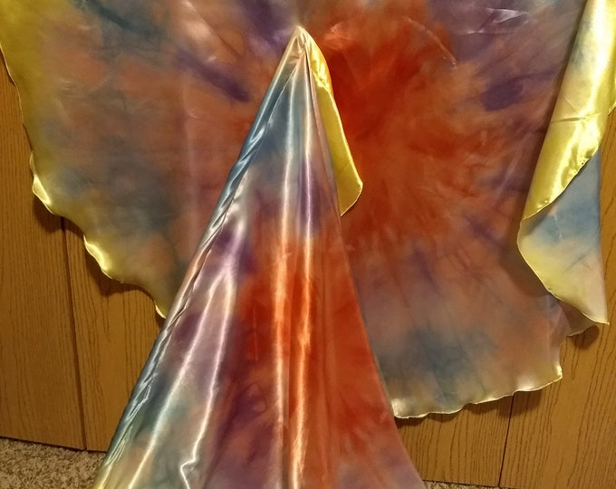 Worship Flags, Dance Flags, Praise Flags, Angel Wings, Hand Dyed - His Amazing Love