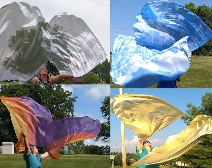 Worship Flags, Dance Flags, Praise Flags, Angel Wings, Open Skies Bundle- 4 Flag Sets (8 flags)