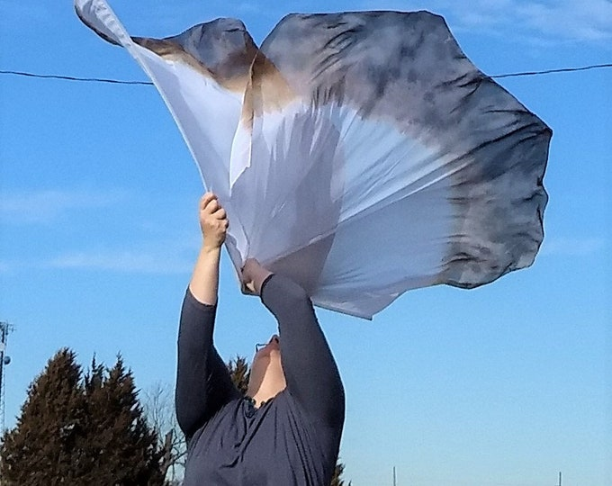 Worship Flags, Set of two, Angel Wings, Hand Dyed - Worth More than Many Sparrows