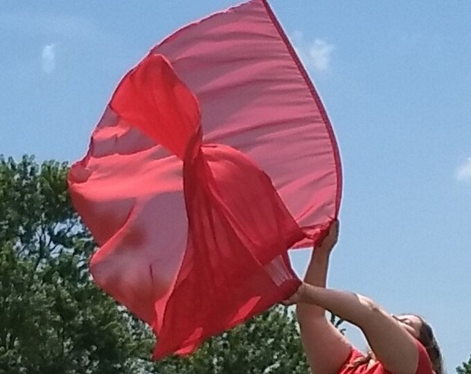READY TO SHIP - Worship Flags, Dance Flags, Praise Flags, Angel Wings  - Great Sacrifice