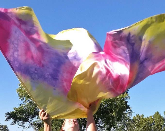 READY TO SHIP - Worship Flags, Dance Flags, Praise Flags, Angel Wings, Hand Dyed - Naomi & Ruth