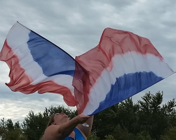 READY TO SHIP - Worship Flags, Dance Flags, Praise Flags, Angel Wings, Hand Dyed - Lifted Up