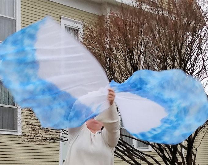 Worship Flags, Dance Flags, Praise Flags, Angel Wings, Swing Flags, Flex Poles - Water Fall