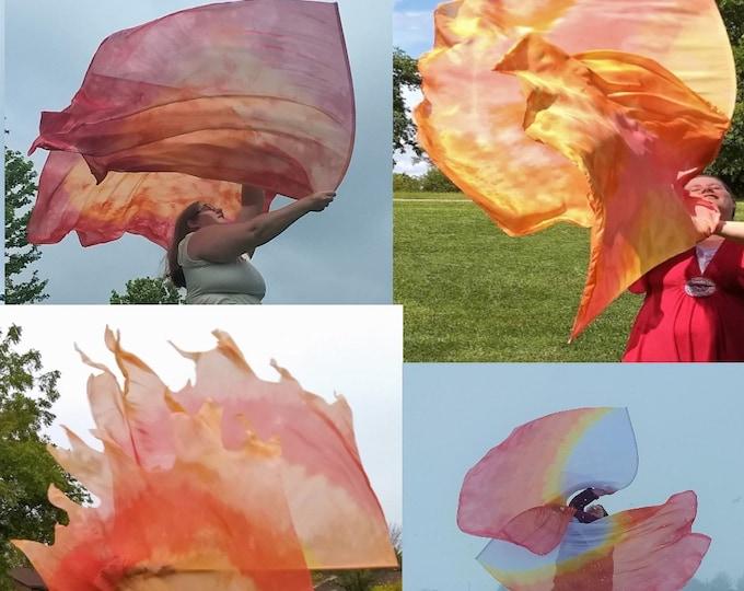 Praise on Fire Bundle - 4 Flag Sets (8 flags) - Worship Flags, Dance Flags, Praise Flags, Angel Wings, Swing Flags
