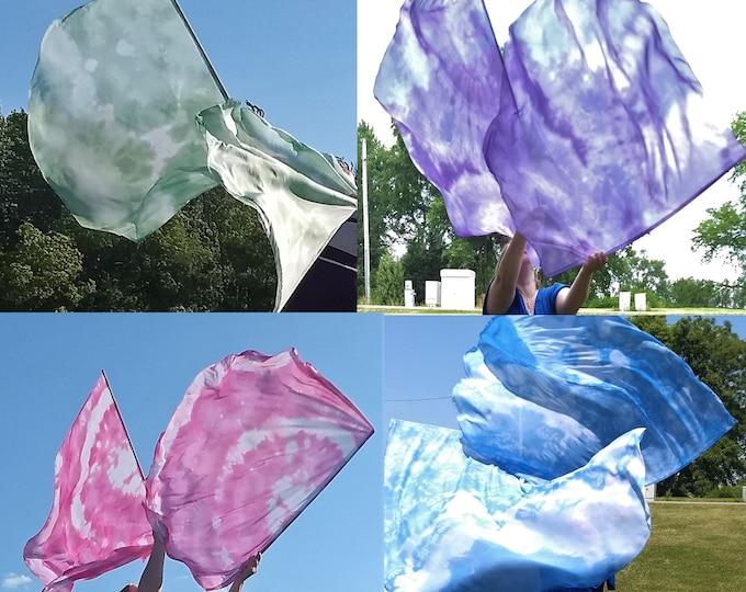 Worship Flags, Dance Flags, Praise Flags, Angel Wings, 4 Worship Flag Sets (8 flags) - Praise His Name