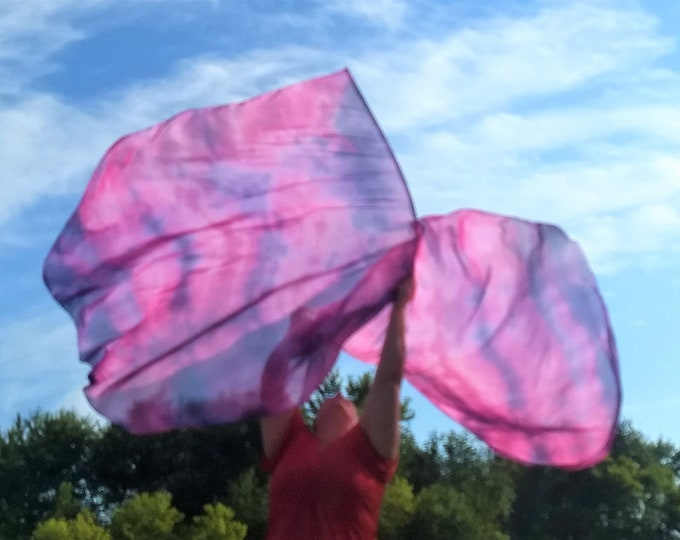Worship Flags, Dance Flags, Praise Flags, Angel Wings, Swing Flags, Hand Dyed - Such a Time as This