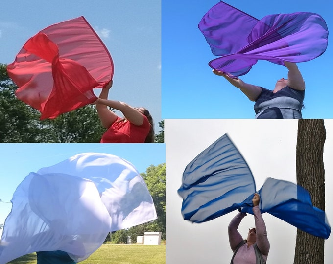 Solid Faith Bundle - Worship Flags, Dance Flags, Praise Flags, Angel Wings, 4 Worship Flag Sets (8 flags)