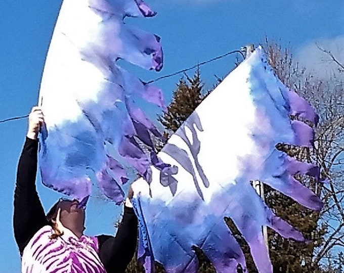 Worship Flags, Dance Flags, Praise Flags, Angel Wings, Swing Flags, Hand Dyed - Lord of All