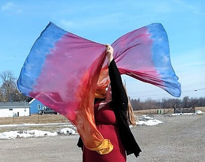 READY TO SHIP - Worship Flags, Dance Flags, Praise Flags, Swing Flags - No Poles - Transcendent Peace