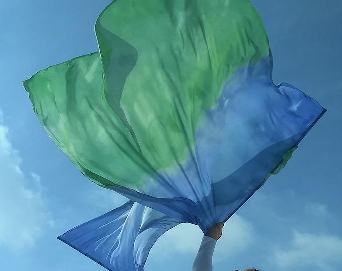 "Worship Flags, Set of two, Rectangular, Hand Dyed - ""Replenish"""