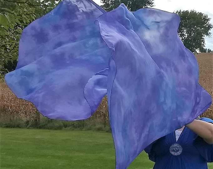 Worship Flags, Dance Flags, Praise Flags, Angel Wings, Swing Flags, Hand Dyed - Royal Majesty