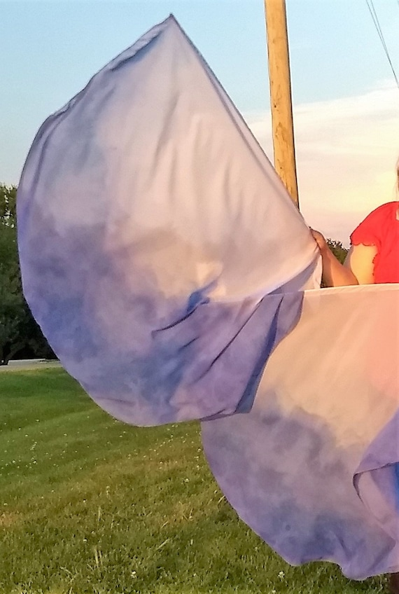 Worship Flags, Dance Flags, Praise Flags, Angel Wings, Swing Flags, Hand Dyed Deep Calls to Deep