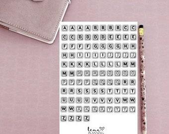 Bullet Journal | Scrabble letters