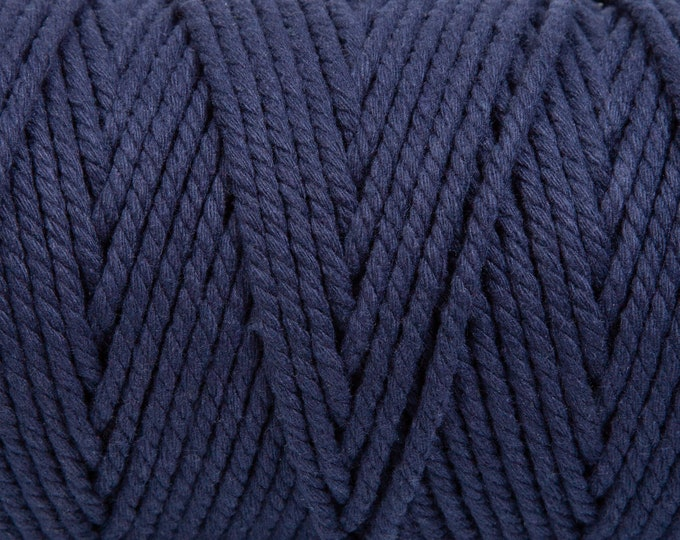 Navy Soft Cotton Chunky Twine - 5 Metres