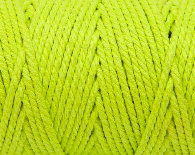 Spring Green Soft Cotton Chunky Twine - 5 Metres