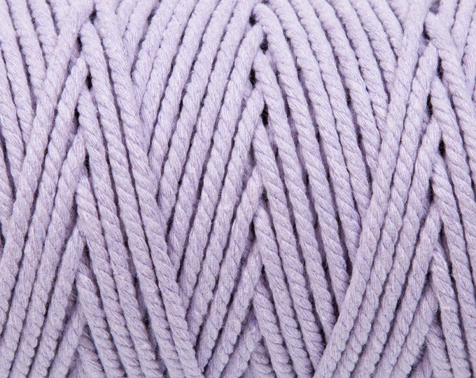 Heather Purple Soft Cotton Chunky Twine - 5 Metres