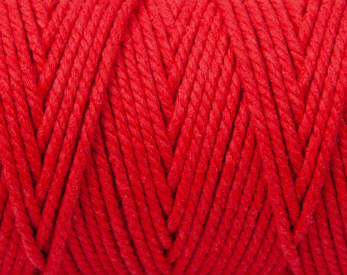 Beefeater Red Soft Cotton Chunky Twine - 5 Metres