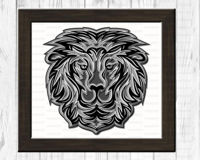 Download Lion 3D Layered Mandala Svg Dxf Files cut files for cricut ...