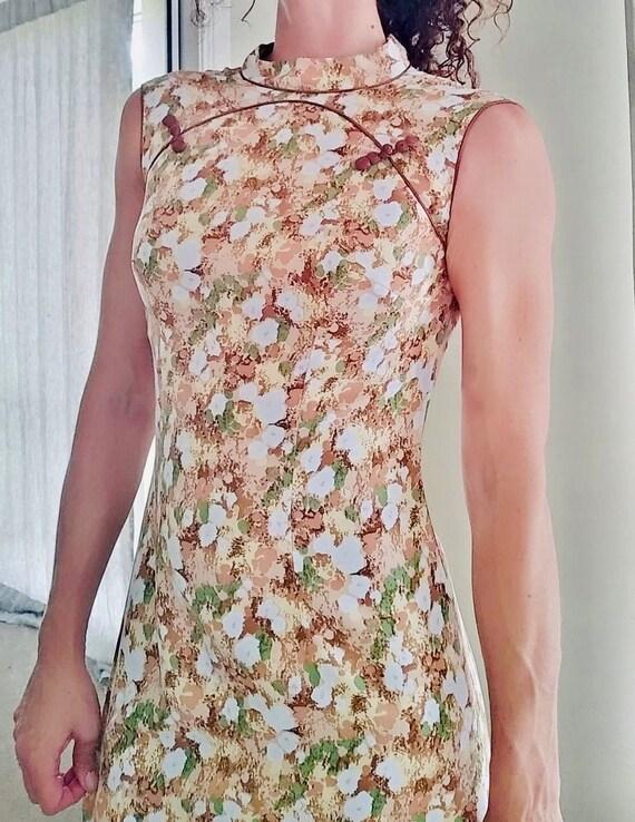 Vintage Cheongsam Maxi Dress