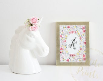 Watercolor Giclee Print - Customizable Monogram