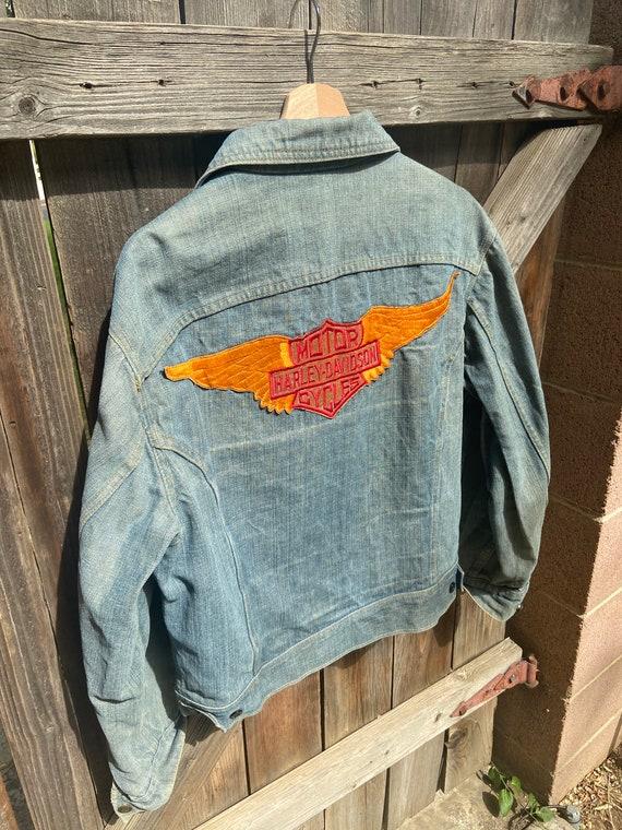 Vintage 70s Lee Harley Davidson Denim Jacket - image 2