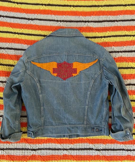 Vintage 70s Lee Harley Davidson Denim Jacket