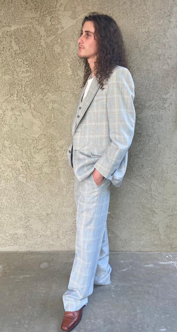 Mens 70s Three Piece Vintage Suit Halloween - image 10