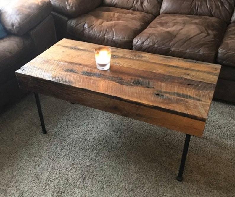 Rustic Handmade Coffee Table Red Oak Reclaimed Barn Board ...
