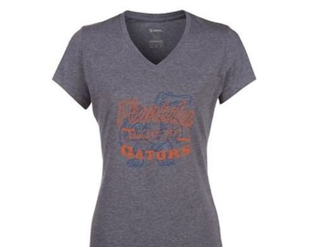 0640c5eb3 Soffe Florida Gators Women's Fitted Collegiate NCAA Printed Logo V-Neck Tee