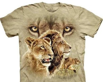 4aa5dcaa4f16 The Mountain 100% Cotton Kid s T-Shirt - Find 10 Lions. (Small)