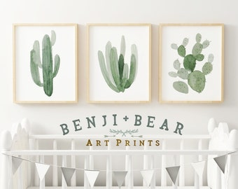 Nursery Decor, Nursery Wall Art, Cactus Nursery Print, Boy Nursery Print, Boho Nursery Print, Boho Art Print, Cactus Wall Art