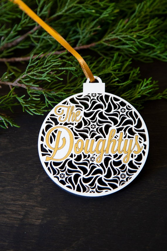 Personalized Wooden Christmas Ornament Laser Cut