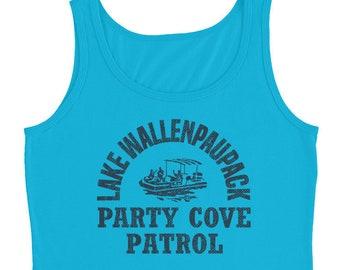 Lake Wallenpaupack Tank Top Party Cove Patrol / Boating Swimming Kayaking Wakeboarding Camping / Lake Tank Tops For Women / Muscle Tank