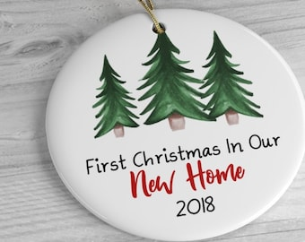 New Home Christmas Ornament 2018 / 1st Christmas In Our New House, First Home Ornament Housewarming Gifts